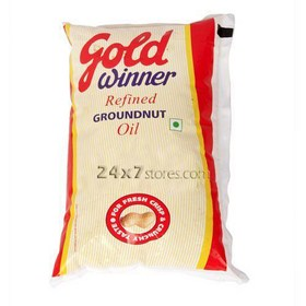 Gold Winner Refined Groundnut Oil 1 lt