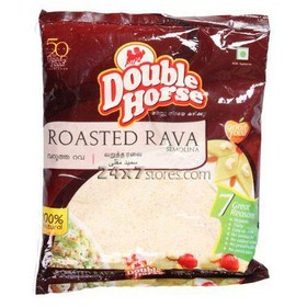 Double Horse Roasted Rava 500 gm