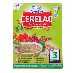 Nestle  Cerelac Wheat Mixed Veget...  375 gm