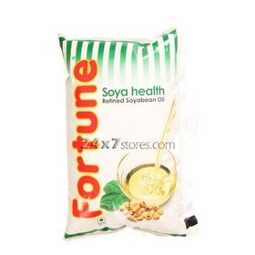 Fortune Refined Soya Bean Oil 1 lt - Pack of 12