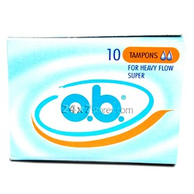 OB  10 Tampons for heavy flow...  10 nos
