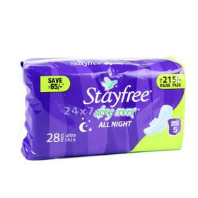 Stayfree  Dry Max All Night  28 nos