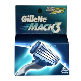 Gillette  Mach 3 Shaving Cartridges  4 nos