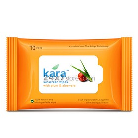Kara  Sunscreen Wipes  10 nos