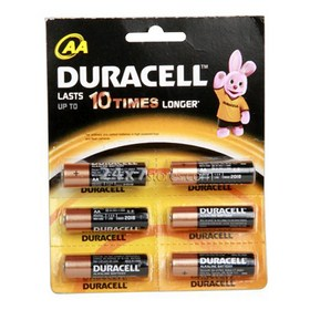 Duracell  AA Batteries  6 nos