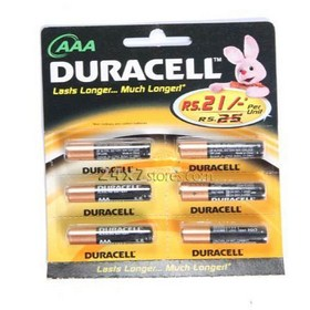 Duracell  Alkaline Battery AAA  6 nos - Pack of 6