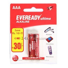 Eveready  Ultima Alkaline Battery  2 nos - Pack of 2