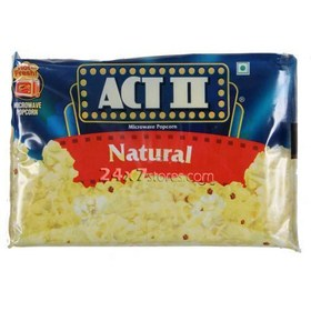 Act II Natural Microwave Popcorn 85 gm