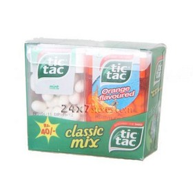 Tic Tac Classic Mix 3 Flavours 29 gm - Pack of 6