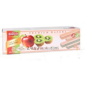 Mangharam Apple & Kiwi Cream Wafers 100 gm - Pack of 2