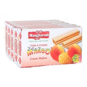 Mangharam Mango Cream Wafers 50 gm - Pack of 5
