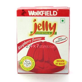 Weikfield  Jelly Crystals Strawberry...  90 gm