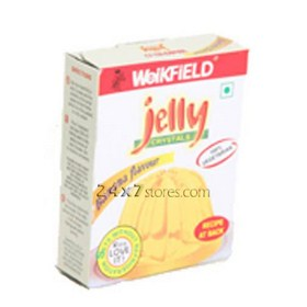 Weikfield  Jelly Crystals Banana Fla...  90 gm
