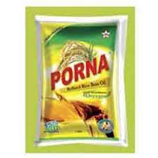 Poorna Rice Bran Oil 1ltr